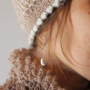 Atelier Momiji-Boucles d'oreille chaînette Chabou